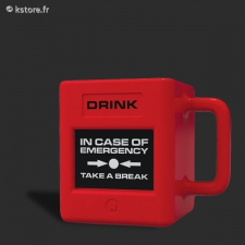 Mug in case of emerg