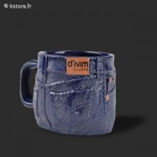 Mug blue jean denim