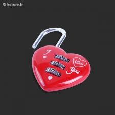 Cadenas coeur rouge