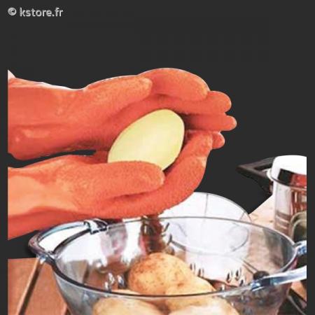 paire de gants pour plucher les pommes de terre. Black Bedroom Furniture Sets. Home Design Ideas