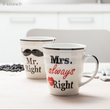 Duo de mugs Mr. et M