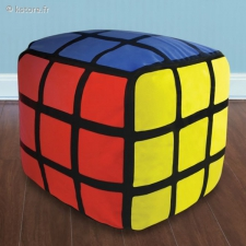 Pouf gonflable cube