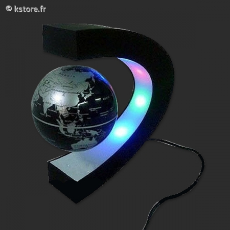 globe terrestre flottant avec lampe. Black Bedroom Furniture Sets. Home Design Ideas