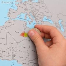 Carte du globe terre