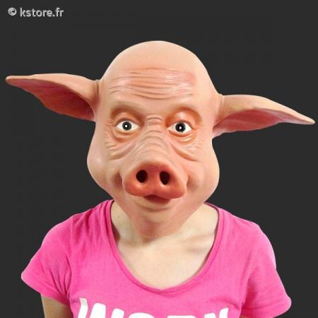 Masque t te de cochon rose - Tete de cochon a colorier ...