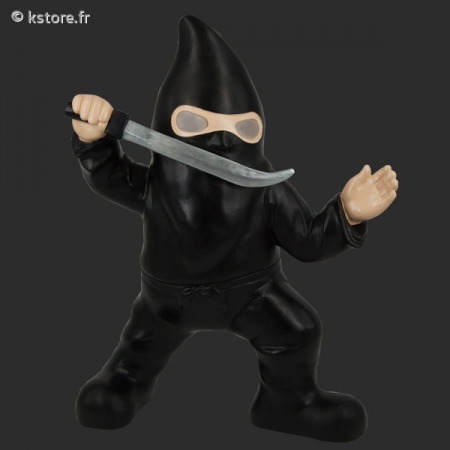 Nain de jardin au costume de ninja sabre for Costume nain de jardin
