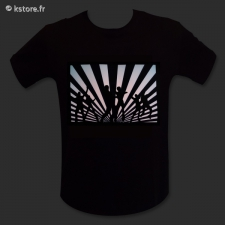 T-shirt lumineux ave