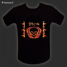 T-shirt LED skull th